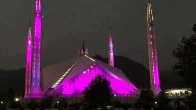 Photo of Faisal Mosque Goes Pink