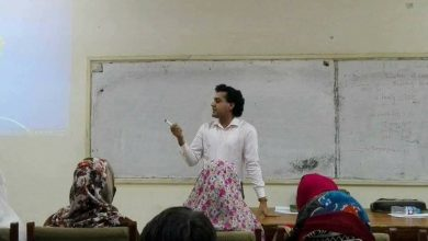 Photo of Pakistan's first transgender to teach at a local university.